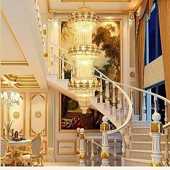 De estilo europeo villa de sala de estar cristalina de la lámpara - bombilla incandescente pulsador E14 for el club Villa escaleras -400 * 1650mm Bien Hecho: Amazon.es: Iluminación