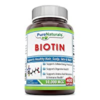 Pure Naturals Biotin 10,000 Mcg, 400 Capsules, Supports Cellular Energy Production...