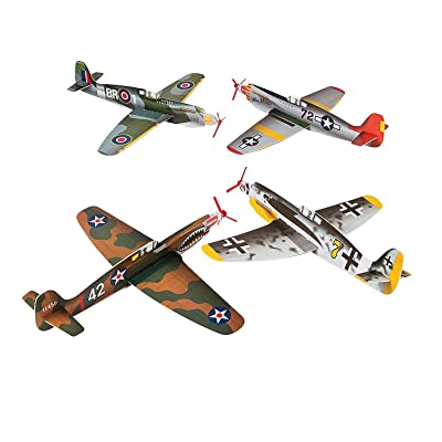 Fun Express - Large War Plane Gliders - Toys - Vehicles - Gliders - 12 Pieces: Toys & Games