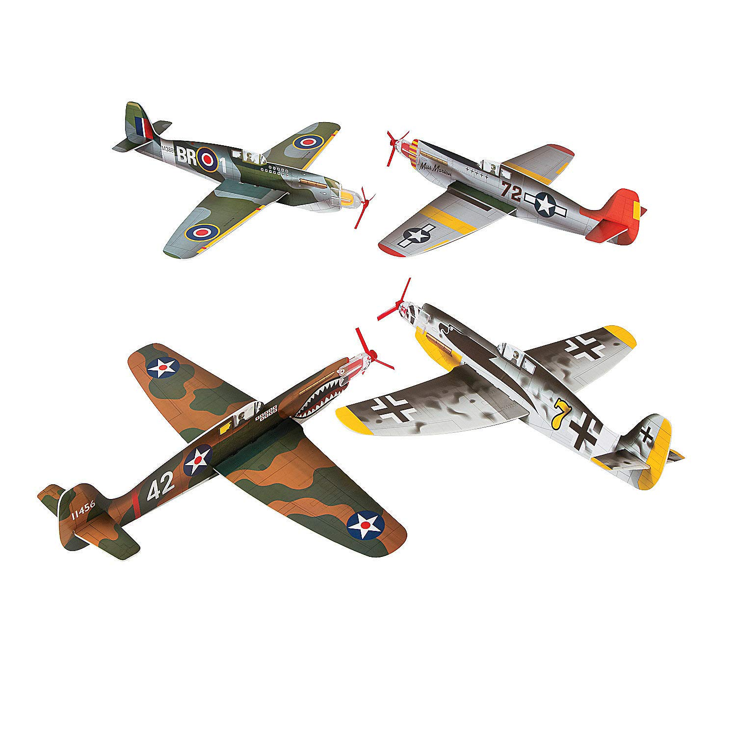 Fun Express - Large War Plane Gliders - Toys - Vehicles - Gliders - 12 Pieces by Fun Express