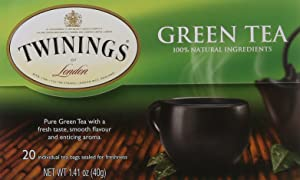 Twinings of London Pure Green Tea Bags, 20 Count