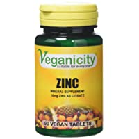 Veganicity Zinc General Health Supplement 10mg 90 Tablets