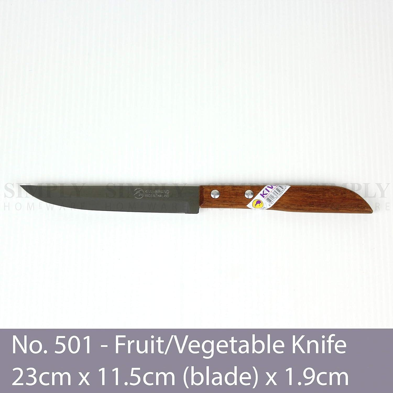 Kiwi - Cuchillo de madera de acero inoxidable