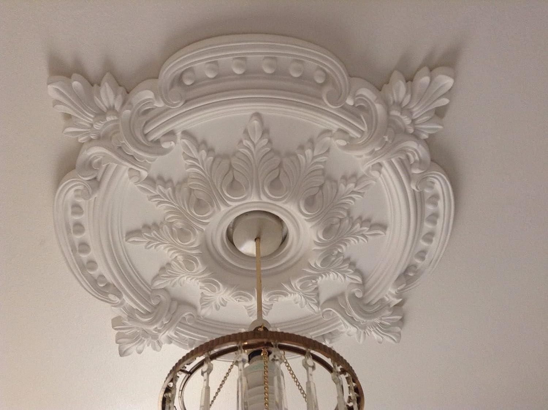 Great Large Beautiful Ornate White Ceiling Rose Home Decor Victorian Medallion  72c CR7: Amazon.co.uk: Car U0026 Motorbike