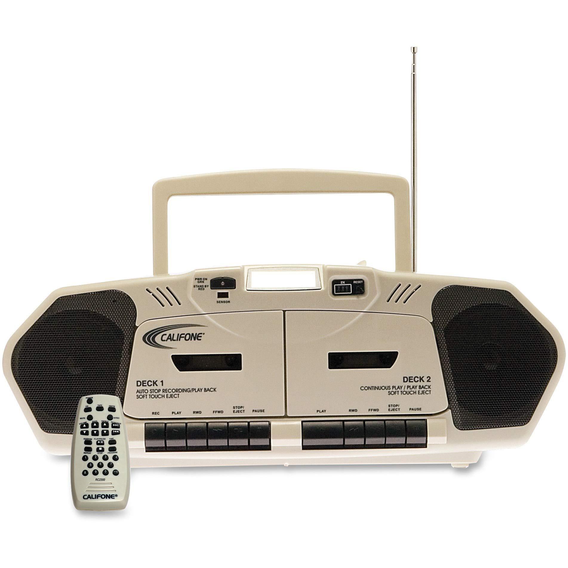 Manual Califone 2395AV02 Multimedia Player,AM/FM,CD,Group Listening Boombox, Beige