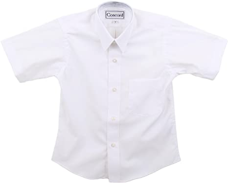 Amazon.com: Concord Boys Short Sleeve White Dress Shirt: Clothing
