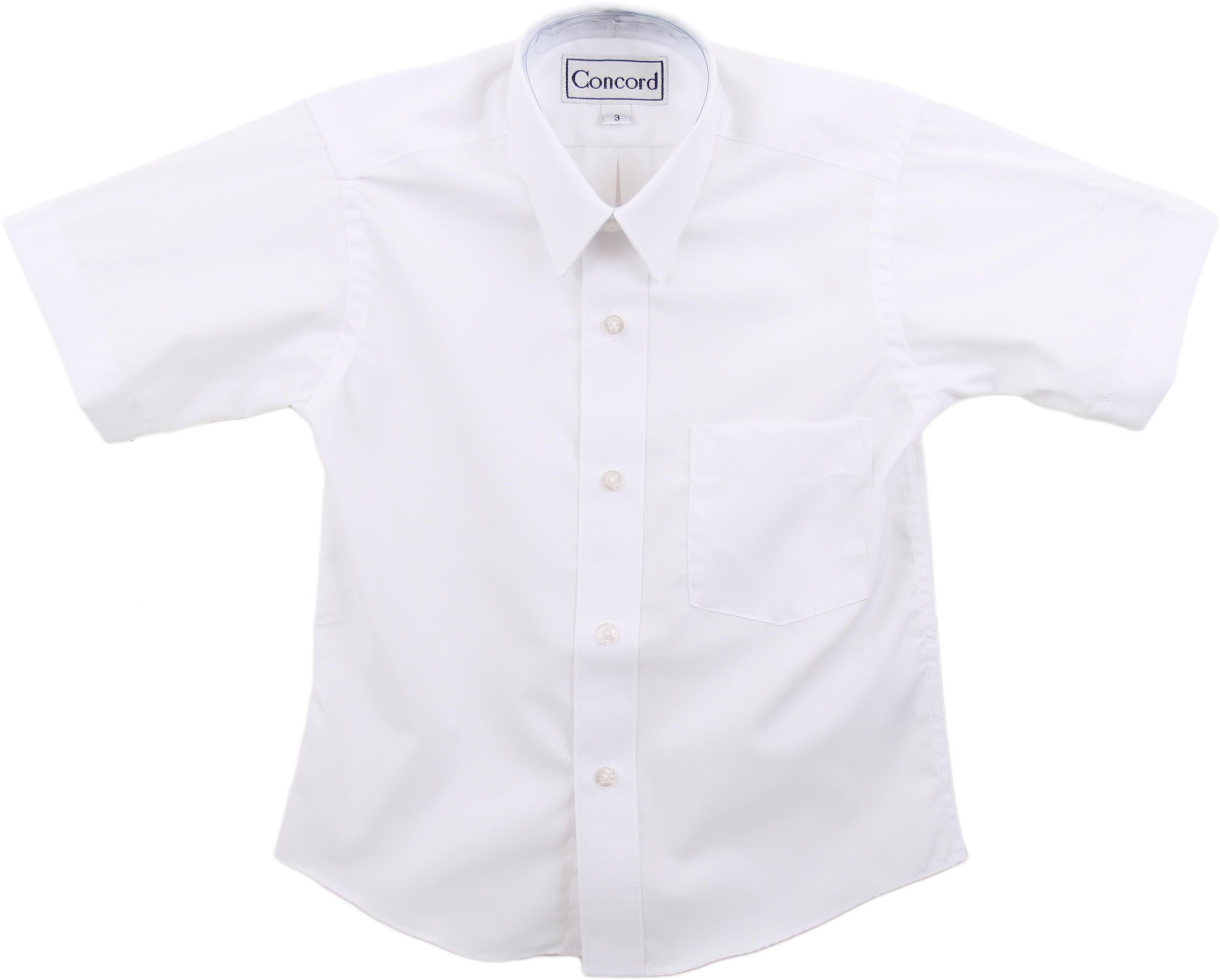 Concord Boys Short Sleeve White Dress Shirt - White, 10