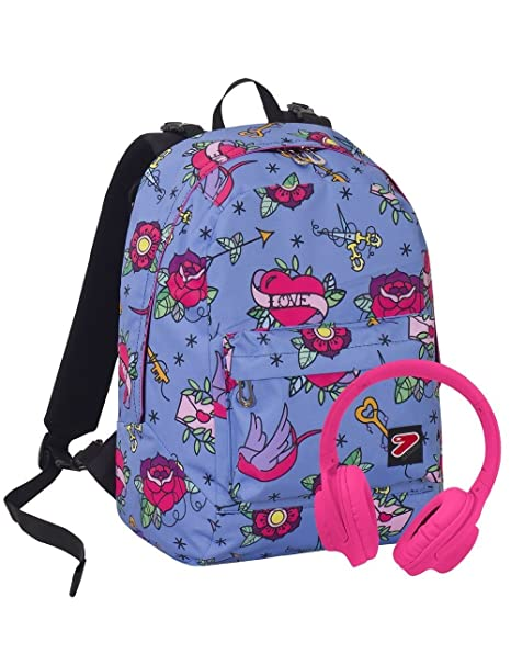 b51be29f96 ZAINO SCUOLA SEVEN DOUBLE BACKPACK REVERSIBILE 2 ZAINI IN 1 SWALLOW CON  CUFFIE