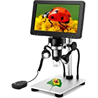 7 inch Coin Microscope, Elikliv 1080P LCD Digital Microscope with Wired Remote,1200X Magnification Handheld Microscope…