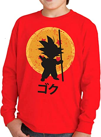 Camiseta Manga Larga de NIÑOS Dragon Ball Goku Vegeta Bolas de Dragon Super Saiyan 043: Amazon.es: Ropa y accesorios