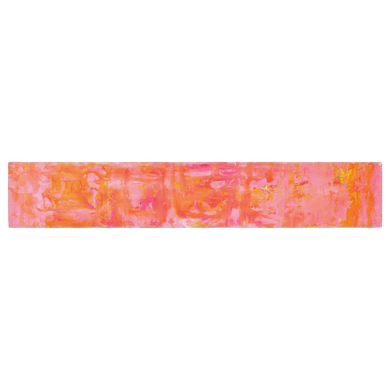 Kess InHouse CarolLynn TICE Wiggle Orange Table Runner