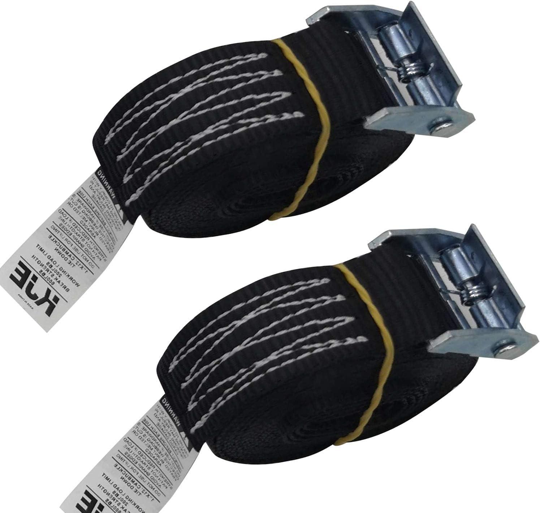 KJE Lashing Straps Sturdy 1 x 8 Tie Down Strap Cargo Tie-Down Strap Padded Cam Lock Buckle 600lbs Capacity 2 pcs 1 x 8, 2 Pcs