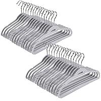 Quality Kids Plastic Non Velvet Non-Flocked Thin Compact Children's Hangers Swivel Hook for Shirts Blouse Coats (Gray…