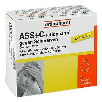 ASS + C ratiopharm contra dolor, 20 unidades: Amazon.es ...