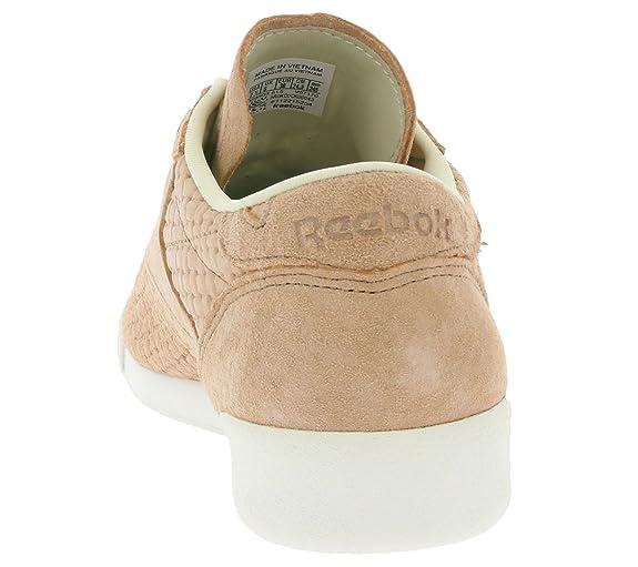 68d5efe4830 Reebok Freestyle Lo Woven Women Sneaker Pink V67170