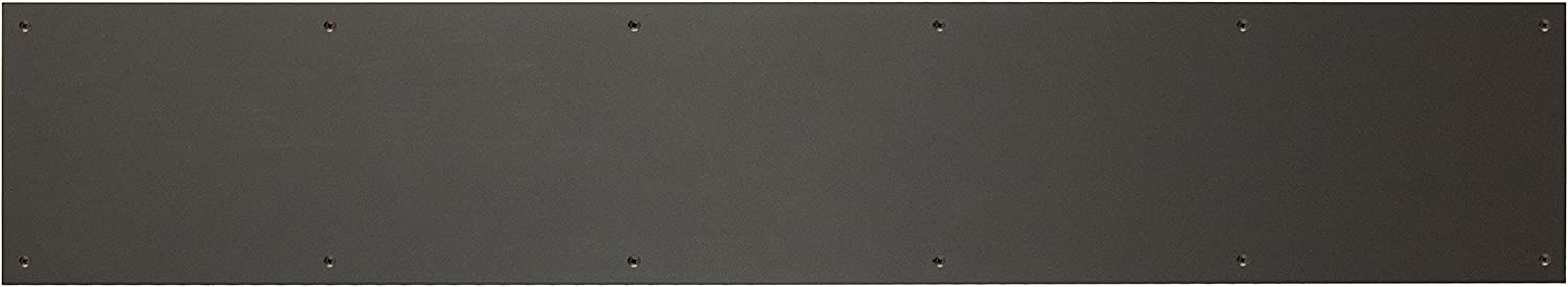 BRASS Accents A09-P0640-622ADH 6 x 40 Kick Plate Weathered Flat Black Adhesive Mount,