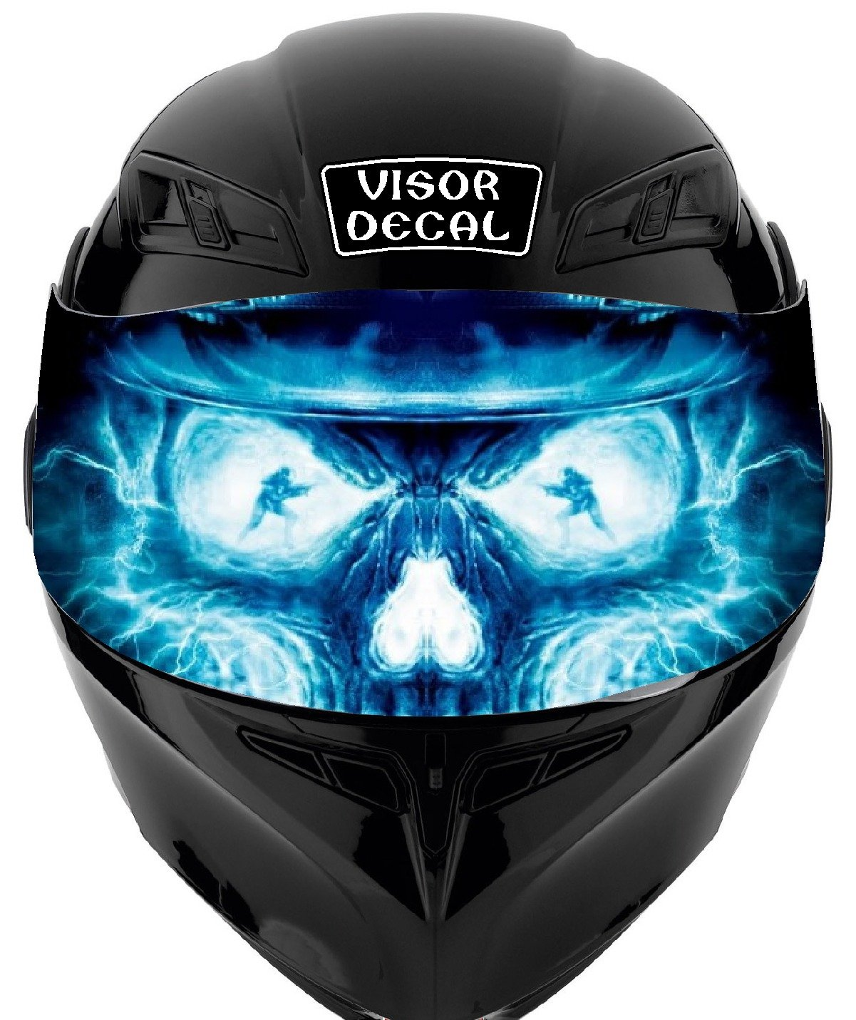 V32 Skull Flames VISOR TINT DECAL Graphic Sticker Helmet Fits: Icon Shoei Bell HJC Oneal Scorpion AGV
