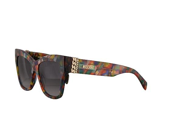 1cabe2ea25e46 Amazon.com  Moschino MOS011 S Sunglasses Purple Blue w Dark Grey ...