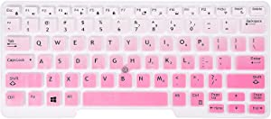 KeyCover - Keyboard Cover Compatible Dell Latitude 5480 5490 7490 3340 5491, E3340 E5490 E5491 E5450 E5470, Latitude E7450 E7470 7480 E7480 Laptop - Gradual Pink