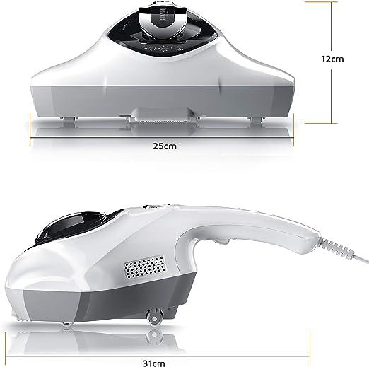 Brandson – Aspirador esterilizante – Antiácaros con lámpara UV – Contenedor de 150 ml – Limpieza profunda de colchones, cojines, cortinas, sofás, alfombras y rellenos – Contra alergias: Amazon.es: Hogar