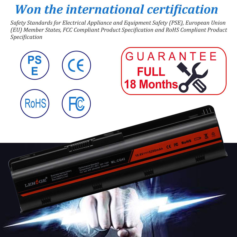 LENOGE MU06 MU09 Replacement Laptop Battery for HP Pavilion 593553-001 593550-001 593554-001 636631-001 CQ32 CQ42 CQ56 CQ62 CQ72 G42 G32 G56 G62 G72 G4 G6 G7 WD548AA HSTNN-LB0W HSTNN-UB0W HSTNN-LB0W HSTNN-CBOW HSTNN-I84C 5200mAh,10.8V,18 Months Warranty