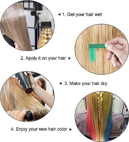 zroven 12 colores tiza para el cabello tinte para el cabello ...