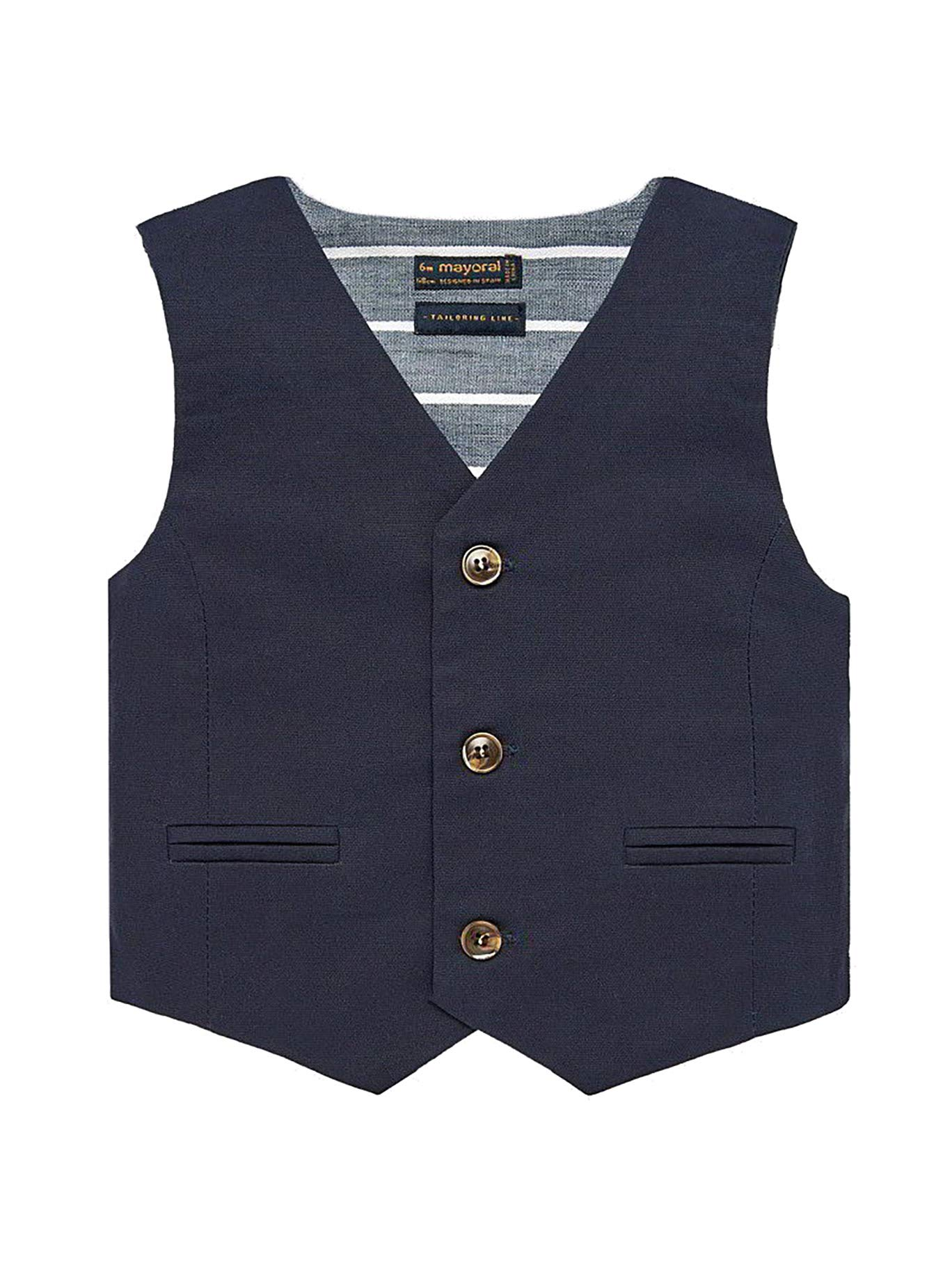 Mayoral 29-01313-077 - Dressy Linen Vest for Baby-Boys 18 Months Navy by Mayoral