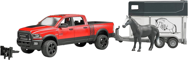 Bruder 02501 ABSsynthetics vehículo de Juguete - Vehículos de Juguete (ABSsynthetics, Negro, Rojo, 3 año(s), 1:16, Interior / Exterior, 1 Pieza(s))