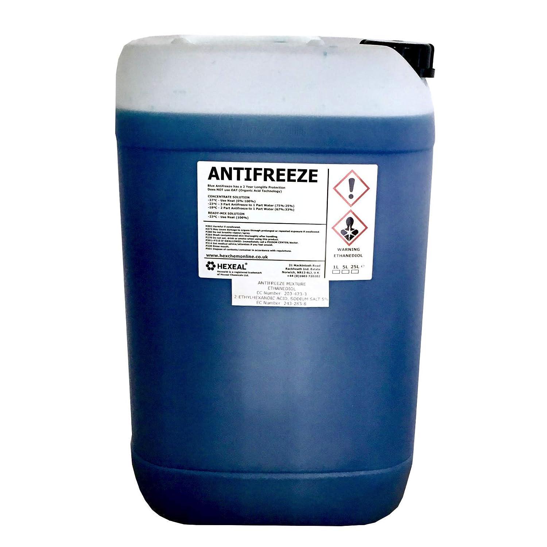 Hexeal BLUE ANTIFREEZE & COOLANT | 25 LITRE | -37 º C | High Concentrate/Longlife | 25L Hexeal®