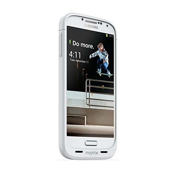 huge discount 6cc96 5c52d mophie juice pack for Samsung Galaxy S4 (2,300mAh) - White