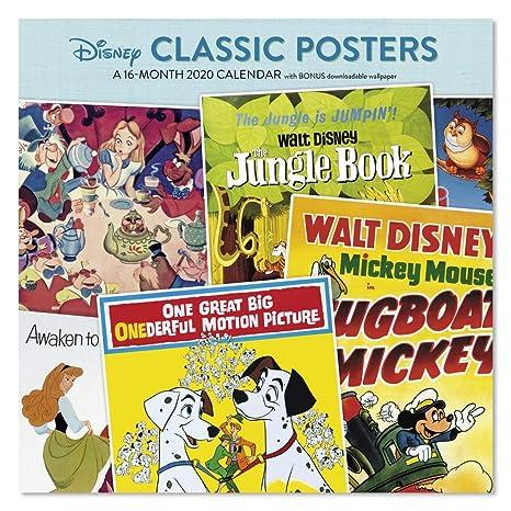 Calendrier Pass Disney.2020 Disney Classic Poster Wall Calendar Ddw3132820