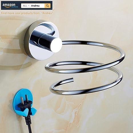Andreu® 304 Acero Inoxidable Gancho De Metal Para Secador de pelo secador soporte de almacenamiento
