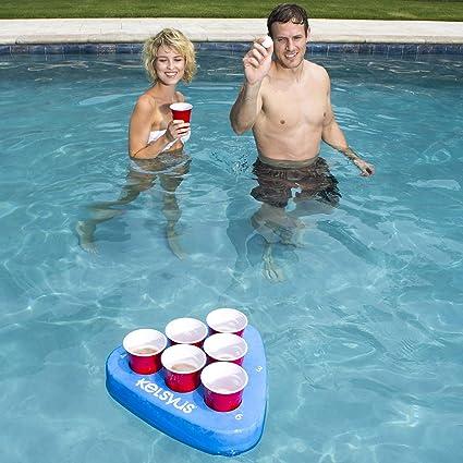 Amazon.com: SwimWays Kelsyus Floating Pong - Adult Drinking ...