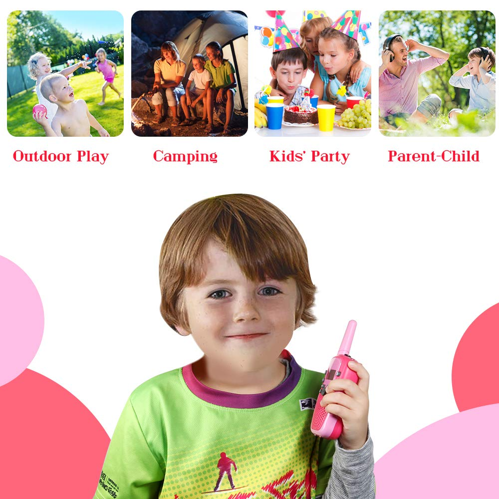 OMWay 3 Pack Kids Walkie Talkies, Toys for Girls 3-12 Year Old,Best Birthday Gifts for Kids. by OMWay (Image #4)