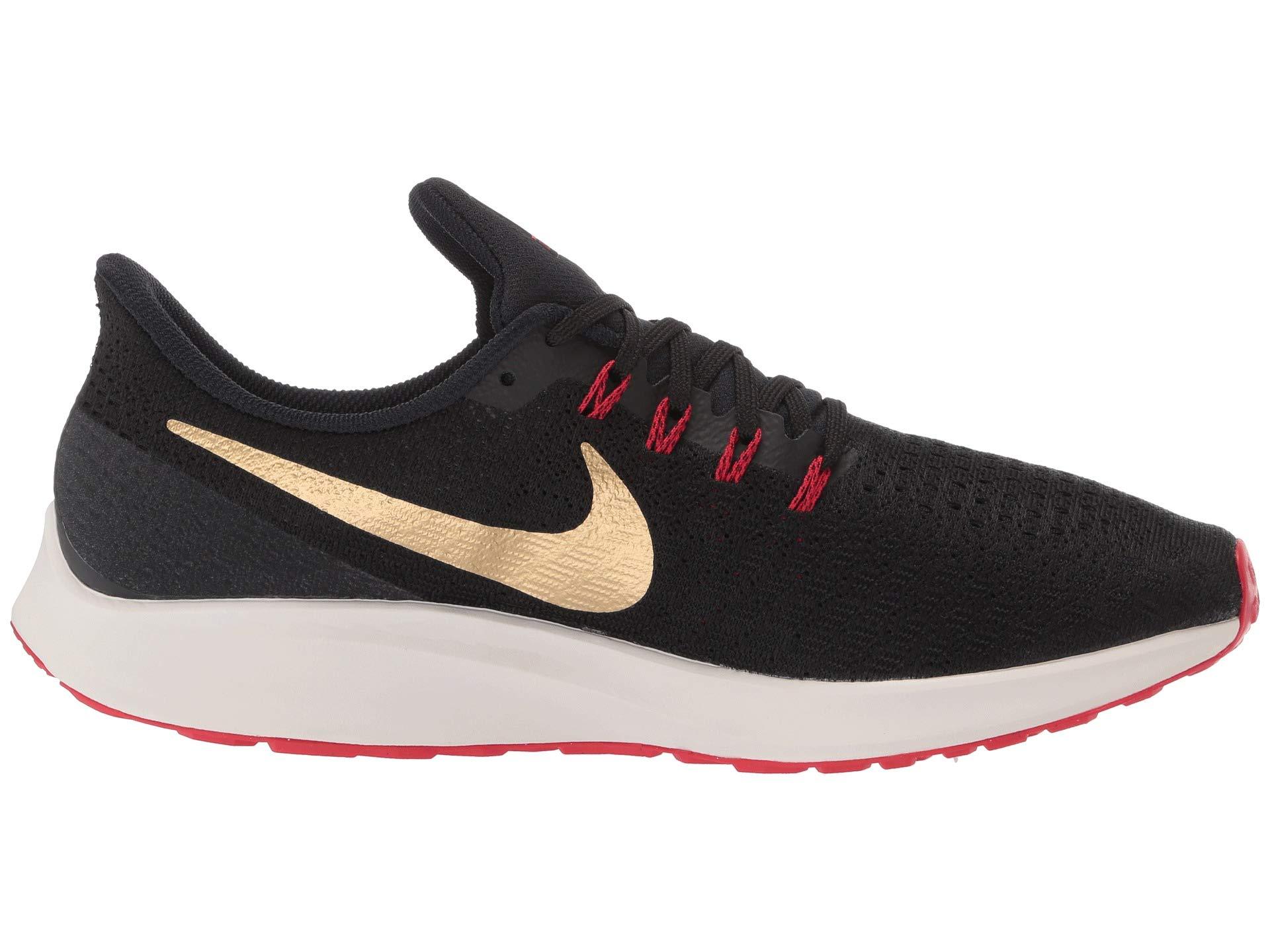 Nike Air Zoom Pegasus 35 Sz 6.5 Mens Running Black/Metallic Gold-University Red Shoes by Nike (Image #8)