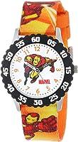 Marvel Kids' W000118 Iron Man Stainless Steel Time Teacher Watch