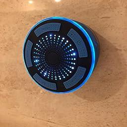 Altavoz Bluetooth Ducha Impermeable portátil inalámbrico con Luces de Humor LED, Ventosa,Micrófono Incorporado,Radio FM,Manos Libres para iPhones, Android, iPod,iPad,Tablets y dispositivos Bluetooth: Amazon.es: Electrónica