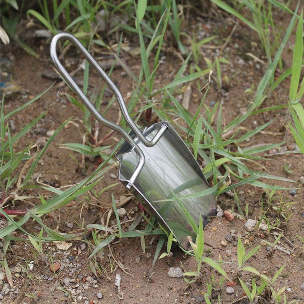 1pcs L/ég/ère Mini Pelle en Acier Inoxydable Multifonction Pliable Jardin Pelle Handy Camping Pelle pour Le Jardinage Et Rempotage Ext/érieur Outil