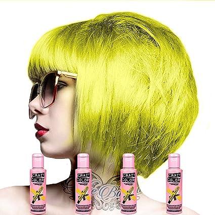4 x Crazy Color renbow semipermanente color de pelo de crema de 100 ml caja de cuatro