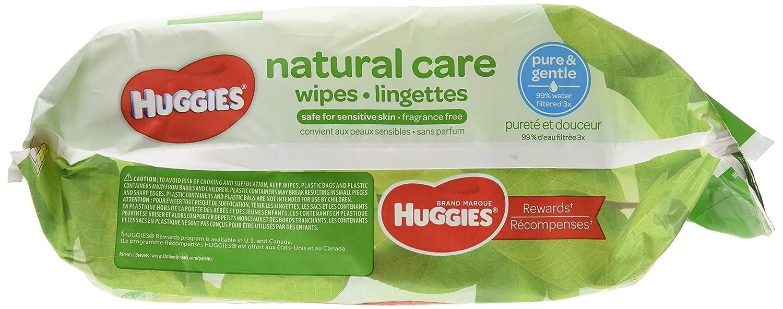 Huggies Natural Care Fragrance Free Baby Wipes 552 Total Wipes 184 Count by Huggies: Amazon.es: Salud y cuidado personal