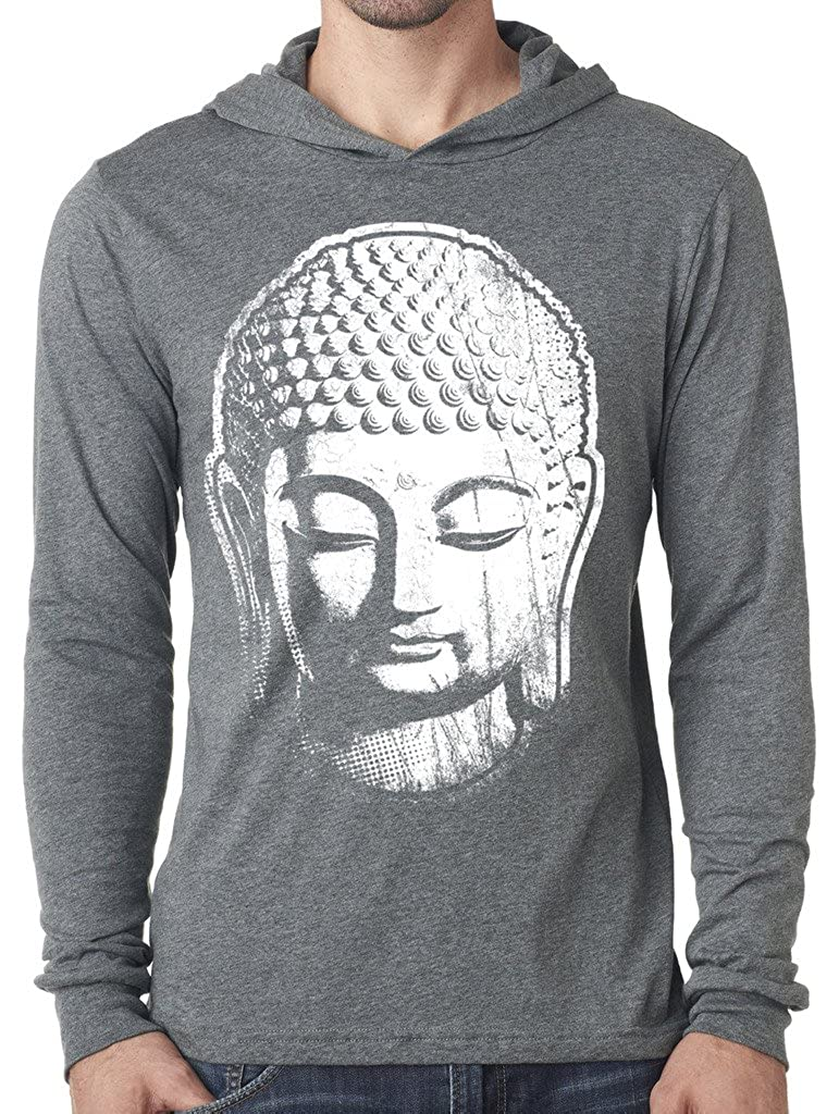 Yoga Clothing For You Mens Big Buddha Lightweight Hoodie Tee Shirt CANVS-3512-BIGBUDD