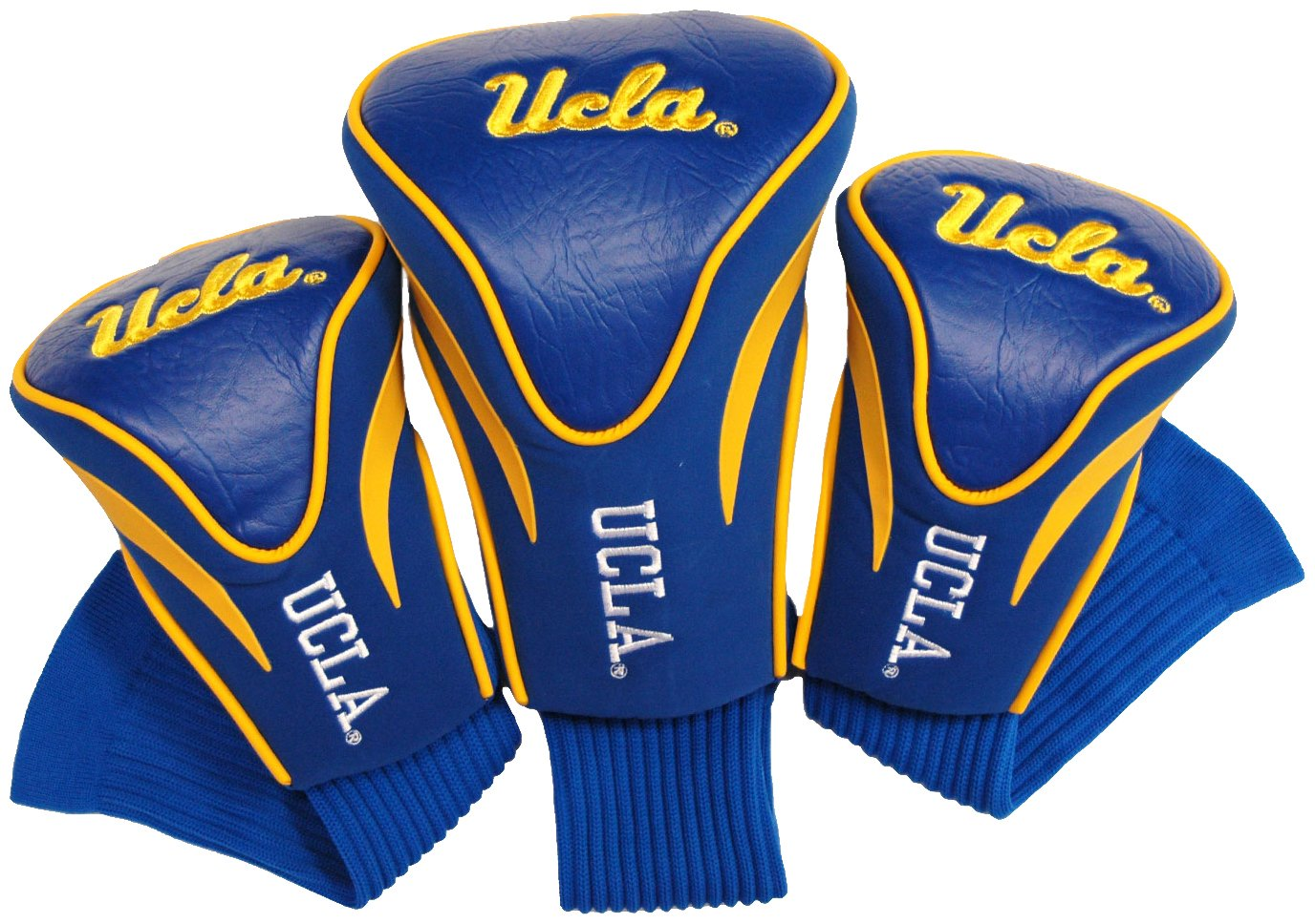 Team Golf NCAA Contour Golf Club Headcovers (3 Count), Numbered 1, 3, & X, Fits Oversized Drivers, Utility, Rescue & Fairway Clubs, Velour lined for Extra Club Protection by Team Golf