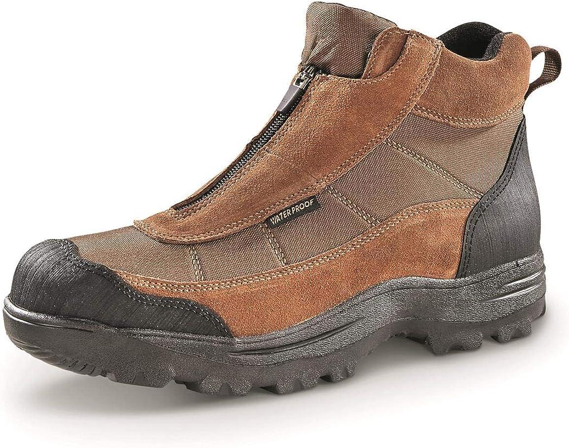 Guide Gear Men's Silvercliff II Mid Zip Hiking Boots Waterproof Outdoor Shoes