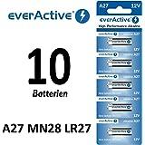 10 Batterie alcaline A2712V EverActive,LR27A MN27L828, pertelecomando