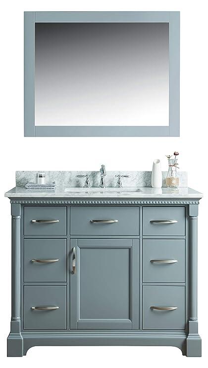 Amazon.com: swanbath 42 inch Solid Wood Grey Bathroom Vanity Cabinet on 42 bathroom vanities with countertops, black bathroom vanity cabinets, rustic bathroom vanity cabinets, bathroom sink cabinets, clearance bathroom vanities and cabinets, 42 bathroom vanities on sale, home depot bathroom vanity cabinets, antique bathroom vanity cabinets, strasser bathroom vanity cabinets, modern bathroom vanity cabinets, vintage bathroom cabinets, 24 bathroom vanity cabinets, small bathroom vanity cabinets, double bathroom vanity cabinets, 36 inch bathroom vanity cabinets, 42 bath cabinets, 42 bathroom cabinets with tops, corner bathroom vanity cabinets, showroom bathroom vanities and cabinets, mirrored bathroom vanity cabinets,