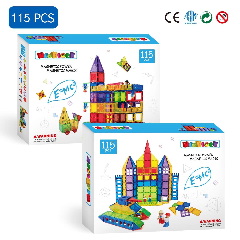 Magblock 115 PCS Magnetic Blocks, Magnetic Tiles Building Blocks for Kids Toy,Magnet Toys Set 3D Building Blocks for Toddler Boys and Girls by Magblock (Image #6)