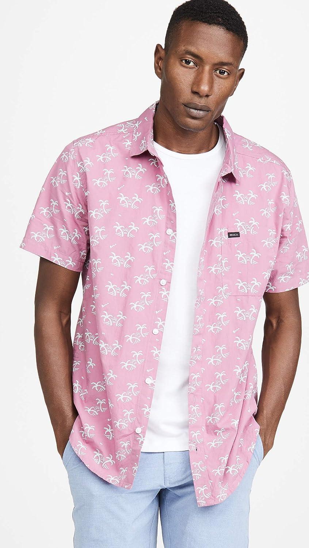 RVCA Mens Easy Palms Button-Up Shirt