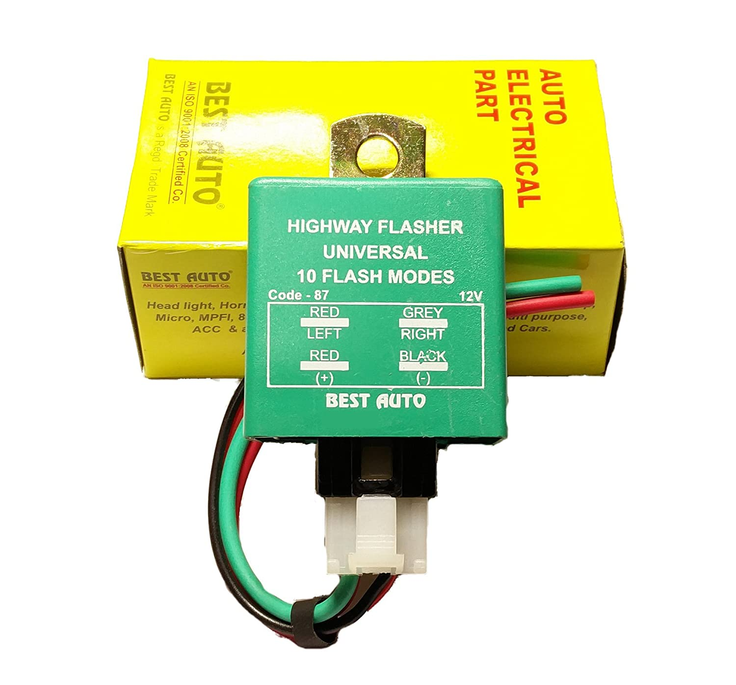 Best Auto Universal Highway Indicator Flasher With 10 Modes Automotive Hazard Switch Wiring Diagram Free Download Code 87 Car Motorbike