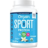 Orgain Vanilla Sport Plant-Based Protein Powder, Made with Organic Turmeric, Ginger, Beets, Chia Seeds, Brown Rice and Fiber,