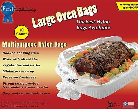 Bolsas de horno grandes de 40,6 cm x 44,5 cm, 10 bolsas y lazos ...
